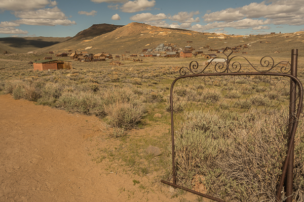 View of Bodie Ghost Town from Cemetery Gate