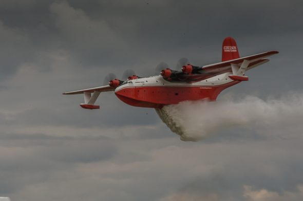Martin MARS Water Bomber during demo at Airventure