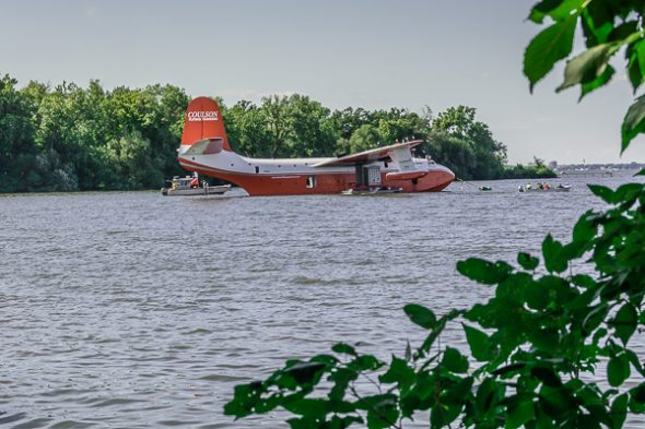 Martin MARS Water Bomber under repair