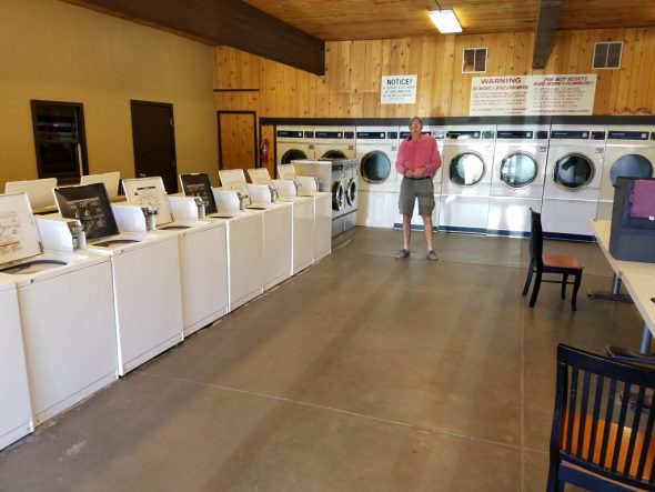 Can you believe this is the Campground Laundry??