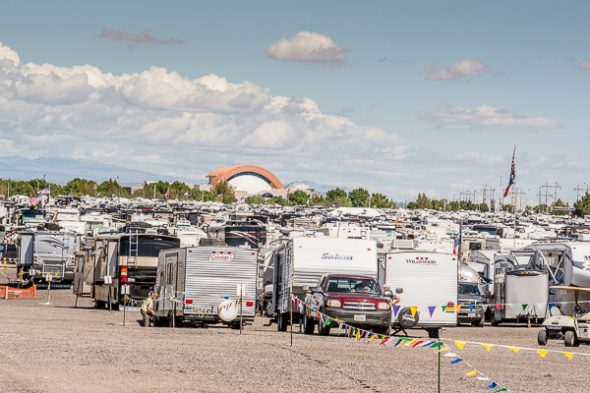 Over 1300 RVs were checked in and parked by RV South Park Volunteers