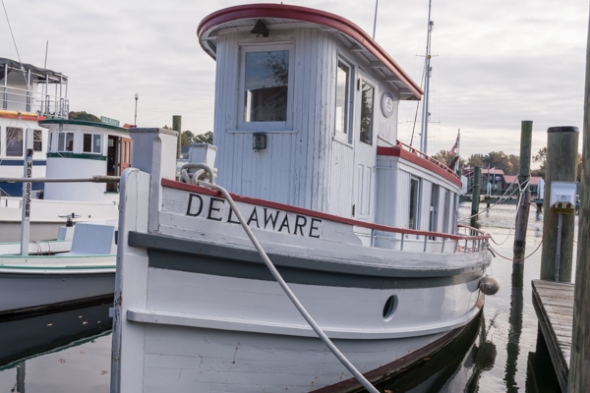 Historic Boat on display in St. Michaels harbor