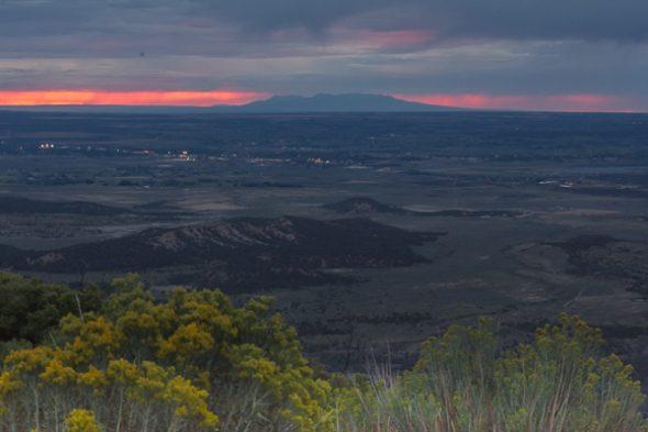Sunset toward the La Sal mountains