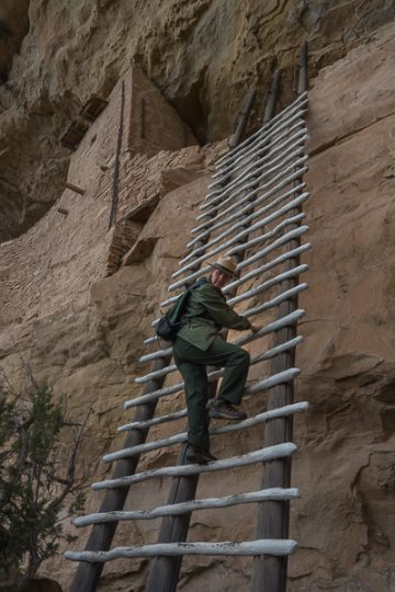 Ranger Lucinda shows up what not to do (pose for pictures) on the Ladders
