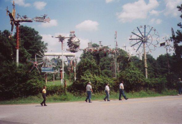 Vollis Simpson's WhirlyGig display outside Wilson was a favorite Sunday Ride Dawson Gang stop