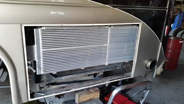 New Charge Air Cooler Installed