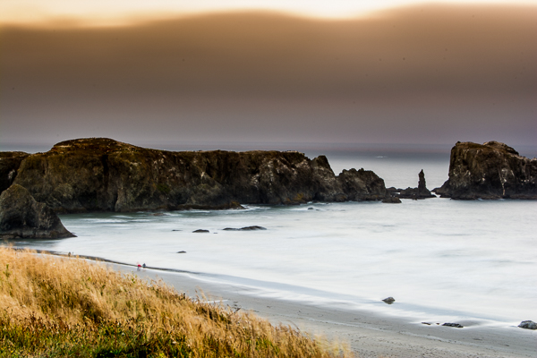 Pacific sunset viewed from Bandon, Oregon