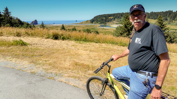 Bike ride to Hughes House in Cape Blanco State Park