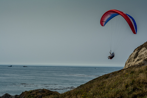 Parasailer near Cape Blanco