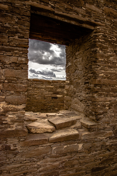 Peering through an ancient window
