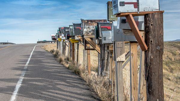 Mailboxes at the Colorado Ranch