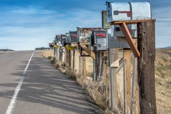 Mailboxes at the Colorado Ranch