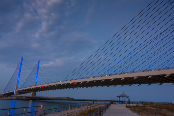 Indian River Bridge at night