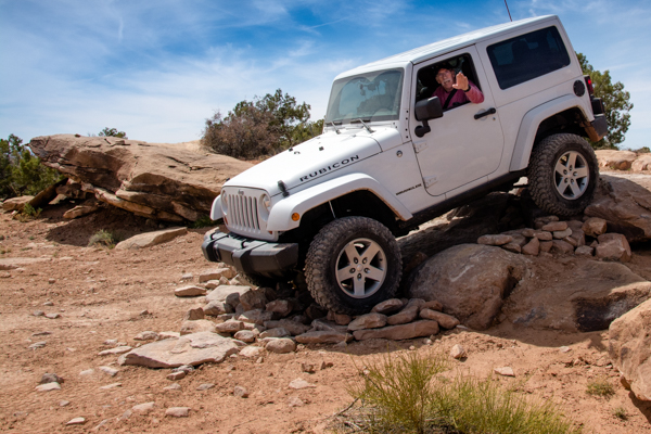Jeep Rubicon near Moab