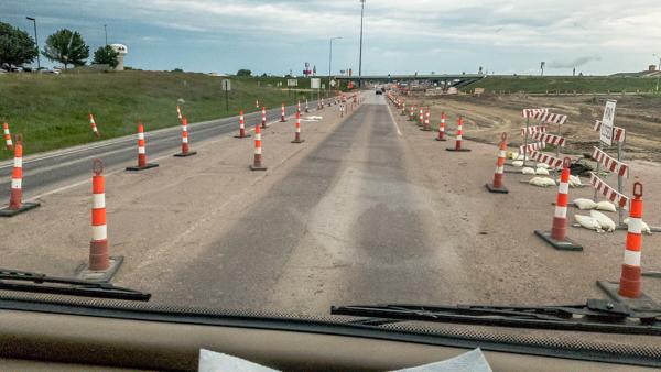 Highway cones