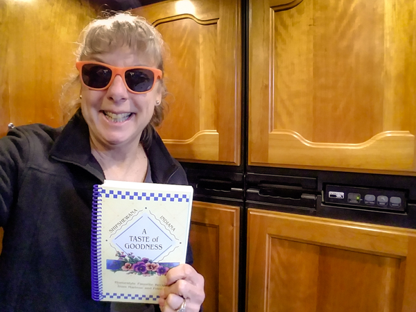 For no extra charge, they threw in this cookbook.  Not sure what they saw in our RV that made anyone think I can cook!