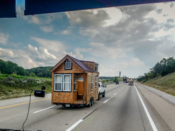 A Tiny House passes us