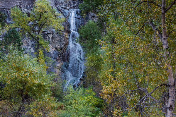 Bridal Veil falls just as Fall colors start to turn in Spearfish Canyon