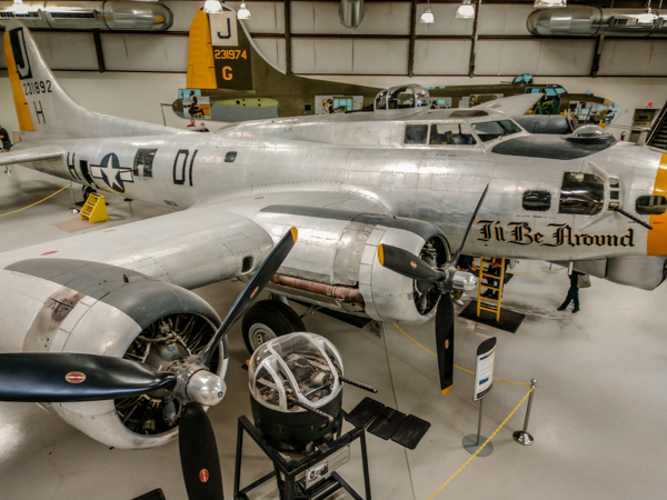 The B-17 has its own hangar with incredible accounts of its flights and missions