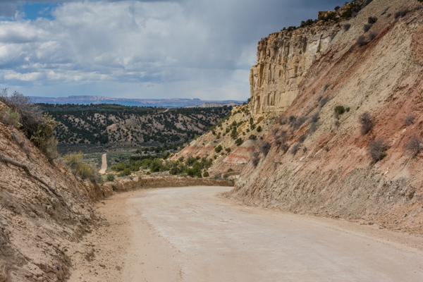 Nearing the end of the road near Kodachrome Basin State Park