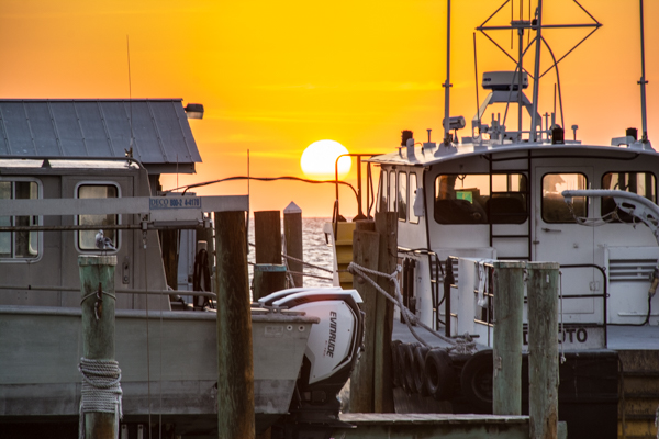 Sunrise at the Pilot Docks on Egmont Key
