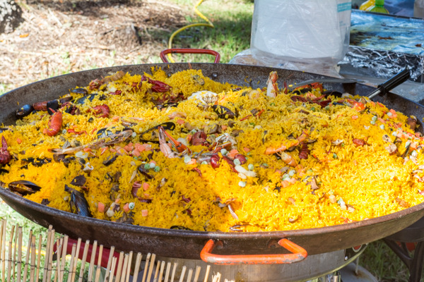 Yummy looking Paella with local stone crab