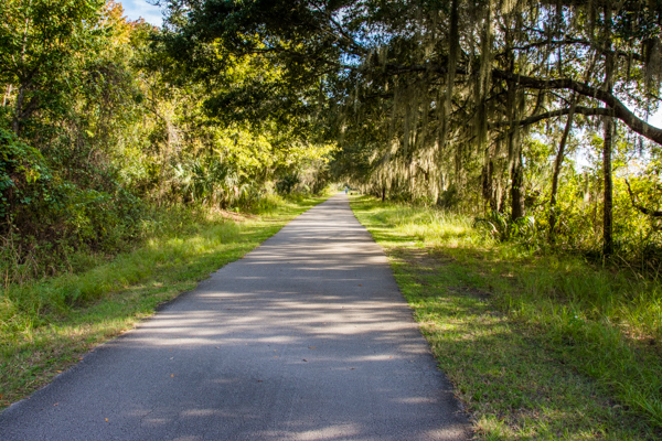 Much better walking on the Withlacoochee State Trail