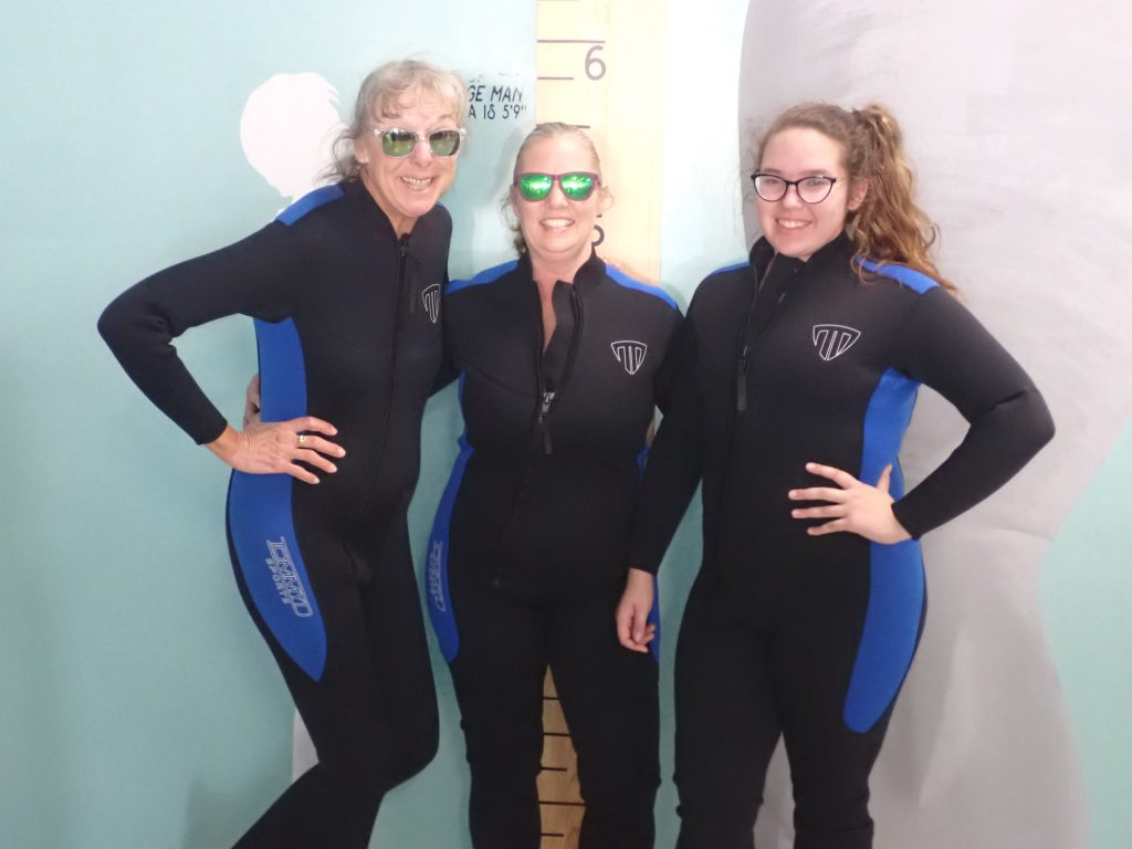 All suited up for our swim with the Manatees!