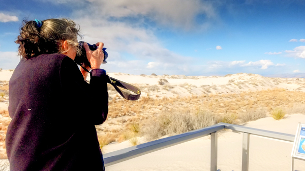 It is so windy at White Sands National Park.