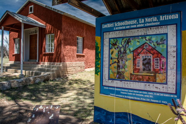 Lunch stop in Lociel, a former border town, includes a visit to this restored one room adobe school house.