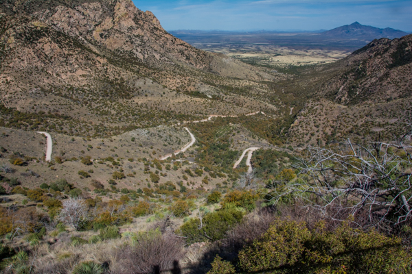 When Jim and I visited Coronado National Memorial we saw only clouds - this is the view we were hoping for.
