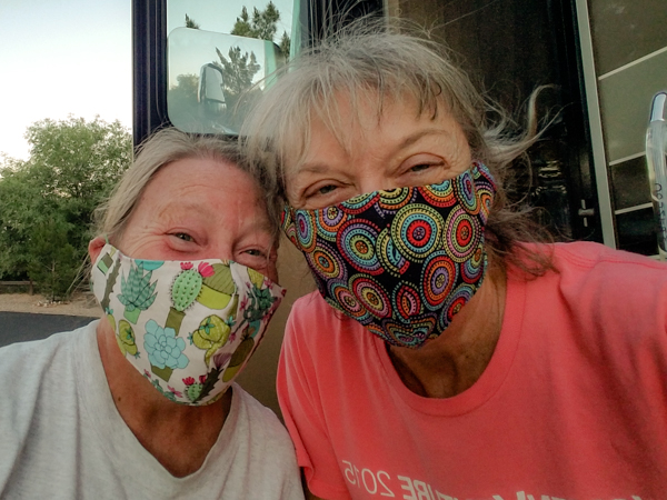 Mary adds another mask to the designer collection she created for me!