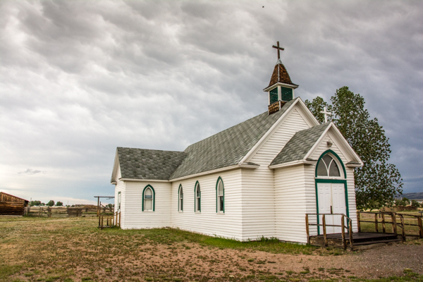 Historic Church that was moved to the Prison Grounds as an example of living in this territory in the late 1800's
