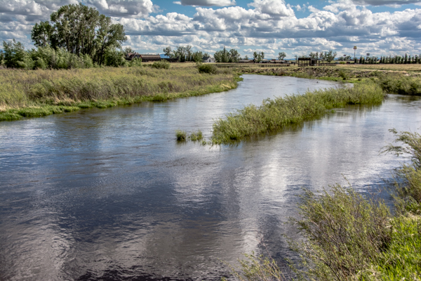 Finally we return home to our peaceful river in Laramie.