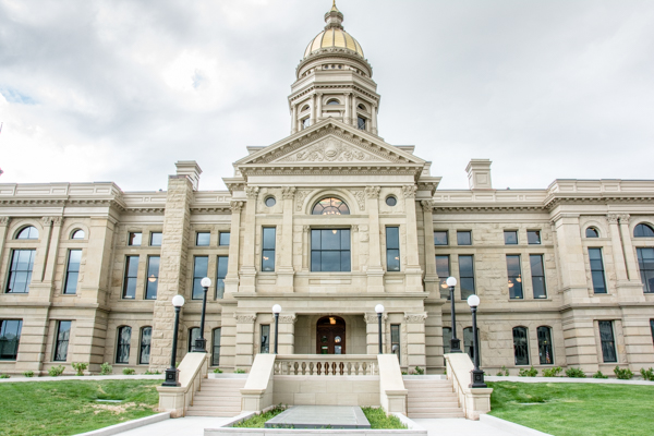 Wyoming State Capitol in Cheyenne.