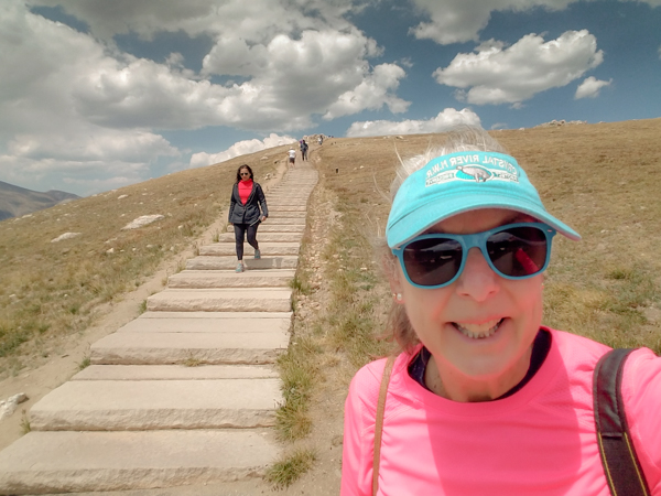 Yes, I did hike up Huffer's Hill.  The climb starts above 11,000 ft.  I definitely required a few breath breaks to get to the top!
