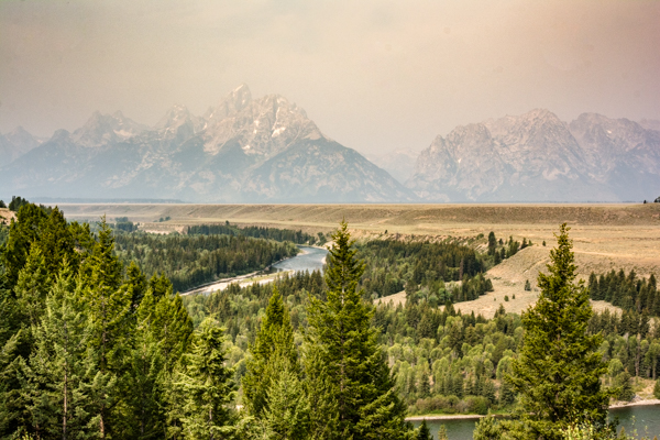 We can barely see the Tetons.
