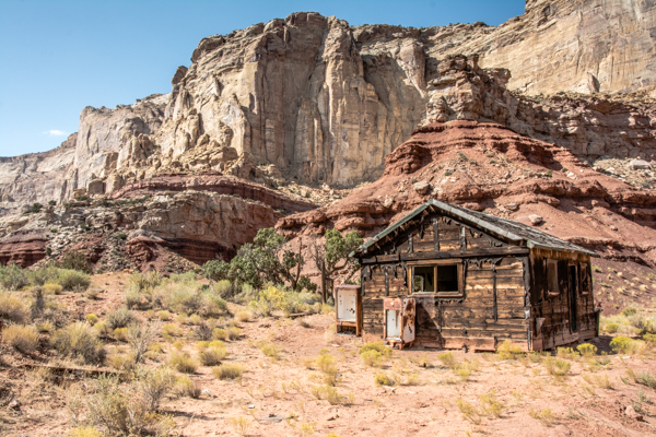 Abandoned mine town in Red Canyon