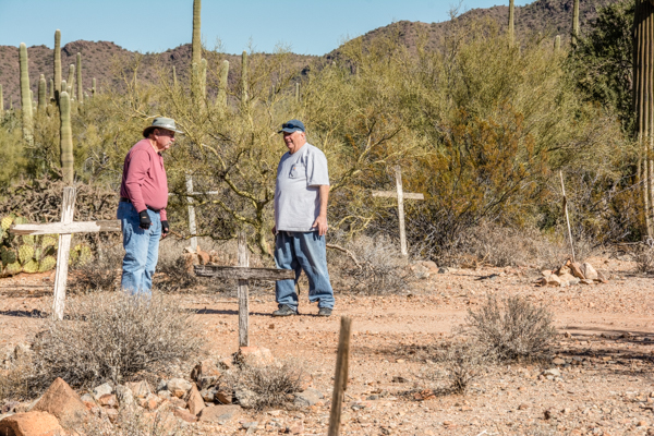 Jim and Leyman explore one of the two graveyards along this route