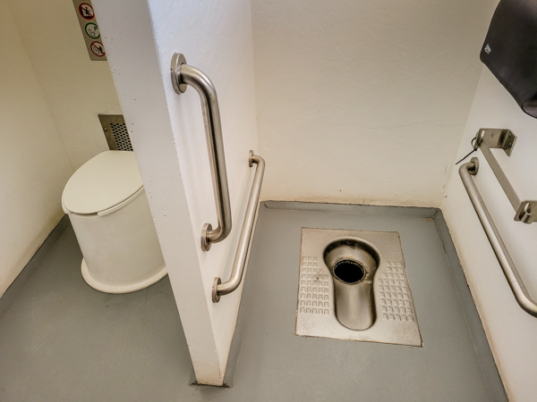 You know I love a clean and unique pit toilet!