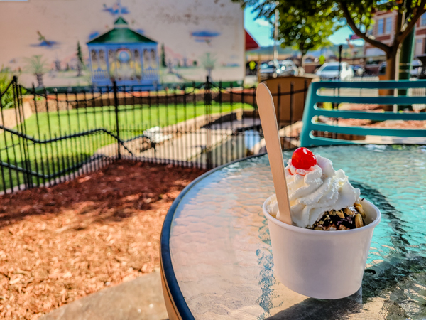 """Leone's Ice Cream in downtown Spearfish was within walking distance of my rig so """"no guilt"""" ice cream snacks for me."""